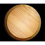 "BASE/PLAQUE - 5"" x 5"" ROUND. SOLID PINE"