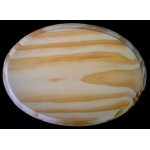 """BASE/PLAQUE - 5"""" x 7"""" OVAL. SOLID PINE"""