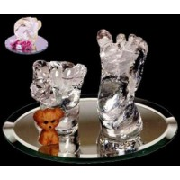 CRYSTAL CLEAR INFANT'S CASTING KIT ( Creates 2 Statuettes)