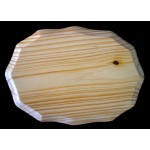 "BASE/PLAQUE - 5"" x 7"" SCALLOPED. SOLID PINE"