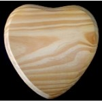 "BASE/PLAQUE - 7""x7"" HEART. SOLID PINE"
